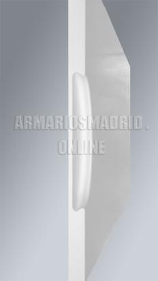 Perfil de tirador armario fresado, lacado blanco.