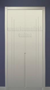 Armarios Madrid, armario dos puertas, lacado en blanco, modelo 2.0
