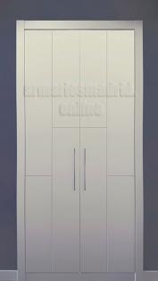 Armarios Madrid, Armario abatible en dos hojas, lacado en blanco, modelo 1.2