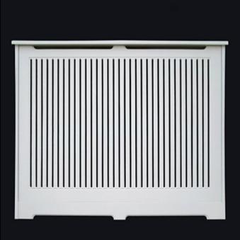 Cubreradiador a medida, lacado en blanco, modelo lama vertical