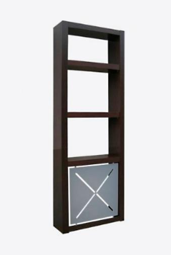 Cubreradiador a medida, con baldas estantería en la parte superior, modelo ibiza