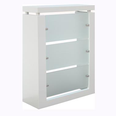 Cubreradiador modelo Glass lacado en blanco