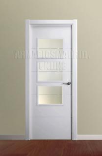 Block puerta lacada en blanco modelo Mapi vidriera 3V. Oferta, ARTEVI, PROMA, MAPI, SAN RAFAEL