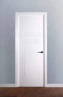 Block puerta lacada en blanco modelo fresados pico de gorrión. Oferta, ARTEVI, PROMA, SAN RAFAEL