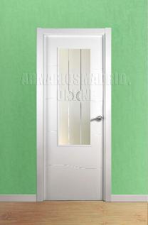 Block puerta de interior lacada en blanco modelo Olas vidriera 1 VA.Oferta, ARTEVI, PROMA, OLAS, SAN RAFAEL