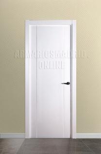 Block puerta de interior lacada en blanco modelo 2 fresados pico de gorrión. Oferta, ARTEVI, PROMA, SAN RAFAEL