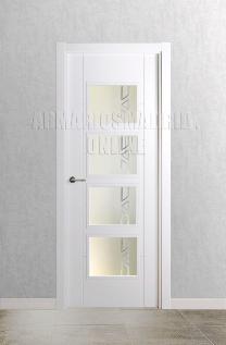 Block puerta de interior lacada en blanco modelo Mar Vidriera 4V. Oferta, ARTEVI, PROMA, MARA, SAN RAFAEL