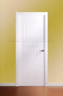 Block puerta de interior lacada en blanco modelo Tablas ciega. Oferta, ARTEVI, PROMA, SAN RAFAEL