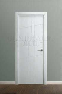 Block puerta de interior lacada en blanco modelo fresado ciega, nuevo diseño. Oferta, ARTEVI, PROMA, SAN RAFAEL