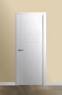 Block puerta de interior lacada en blanco modelo Mara, ciega. Oferta, ARTEVI, PROMA, SAN RAFAEL