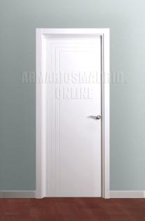 Block puerta de interior lacada en blanco modelo 3 fresados pico de gorrión en L, ciega. Oferta, ARTEVI, PROMA, SAN RAFAEL