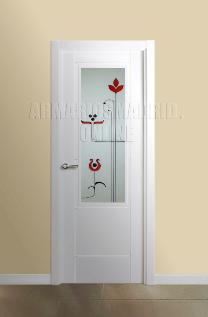 Block puerta de interior lacada en blanco modelo Mara Vidriera 1V. Oferta, ARTEVI, PROMA, MARA, SAN RAFAEL