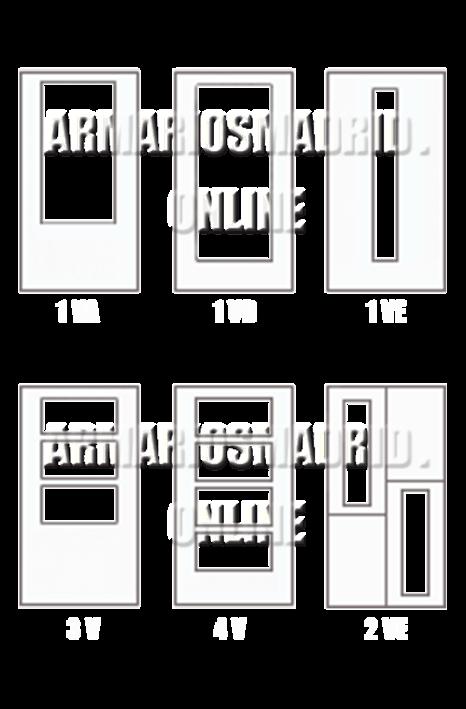 Vidriera disponibles en la oferta de puertas lacadas en Block