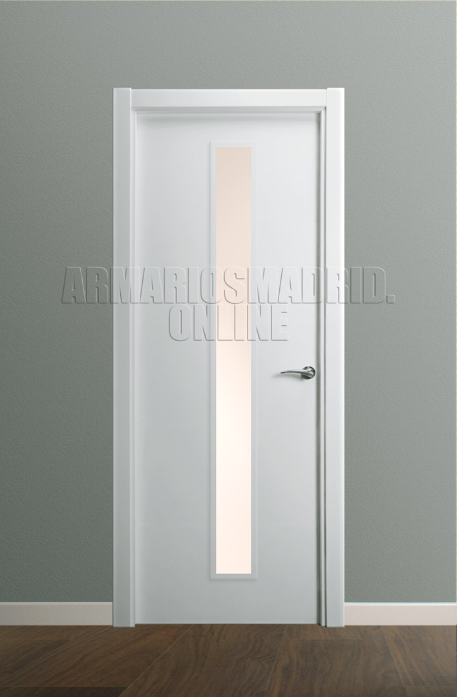 Puerta Modelo liso lacada vidriera 1VE