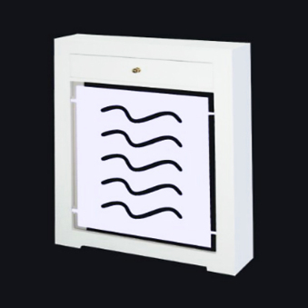Cubreradiador a medida, lacado en blanco, modelo olas