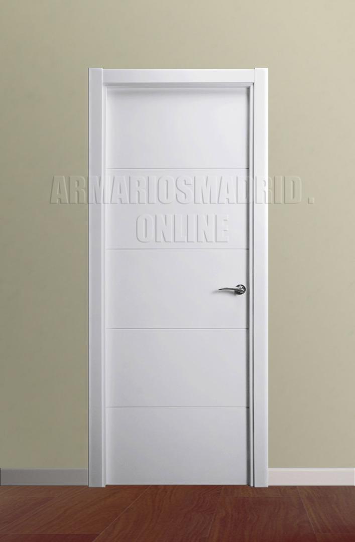 Puerta lacada blanco instalada mapi mara 229 u - Puertas lacadas en blanco ...
