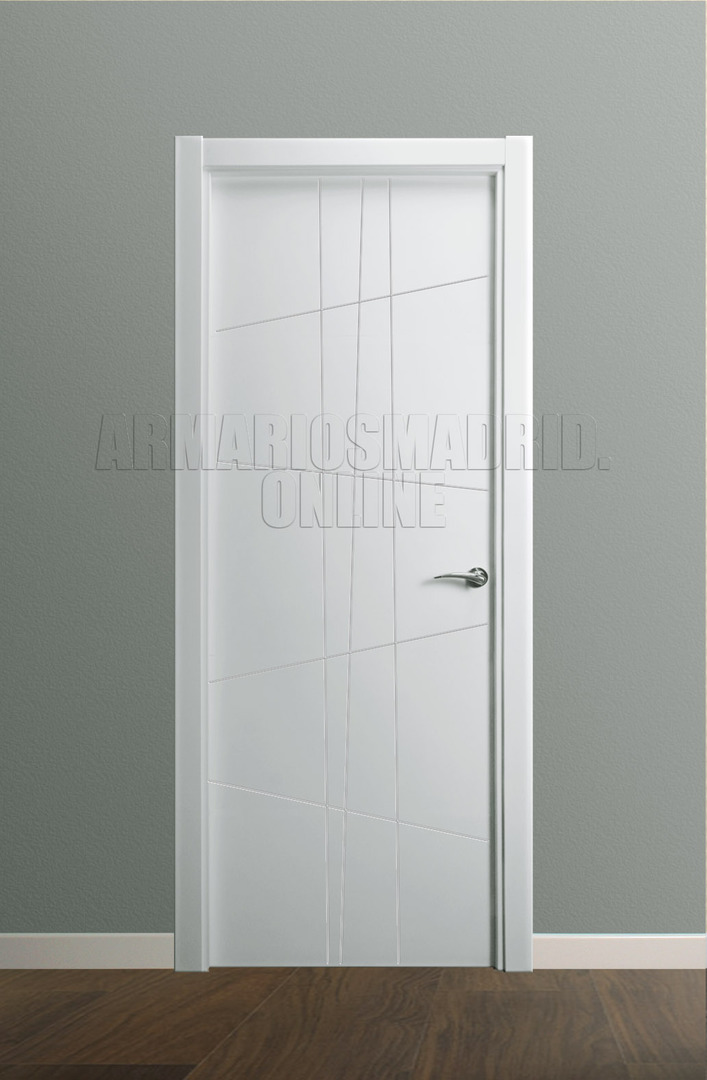 Puerta lacada blanco instalada mapi mara 229 u - Puertas de interior lacadas en blanco ...