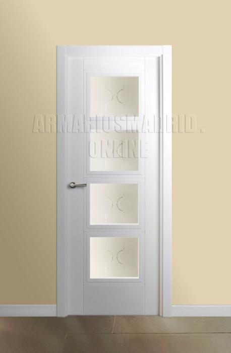 Puerta lacada blanco instalada mapi mara 229 u for Oferta puertas blancas interior