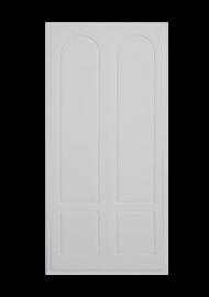 Frente de armario lacado blanco medio punto.