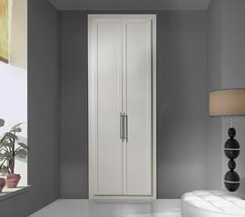 Armario abatible en blanco, de diseño moderno y sencillo