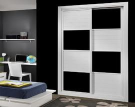 Frente de armario barato, a medida en cuadros en blanco y negro