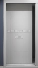 Puerta de arrmario lacado, modelo Mara, fresado pico de gorrión
