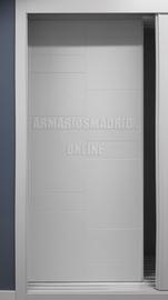 Puerta corredera de armario lacado, modelo Tetris, fresado pico de gorrión