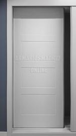 Puerta corredera de armario lacado, modelo cuatro cuadros, fresado vaciado