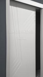 Detalle de armario lacado, modelo Parentesis Doble, fresado vaciado