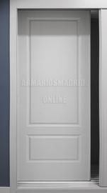 Puerta de armario corredera lacado, modelo recta dos cuadros, fresado a pico