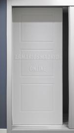Puerta de armario corredera lacado, modelo tres cuadros, fresado a pico
