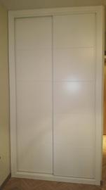 Frente de armario lacado blanco mod. japones.