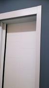 Frente de armario de hojas correderas, a medida,  perfilería sport blanco, puerta lacada blanca fresado.