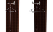 Organizador de armario, percha lateral fija auxiliar, para costado o fondo