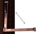 Organizador de armario, Práctico empuja mangas que permite el cierre en puertas correderas.
