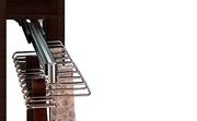 Organizador de armario, corbatero cinturonero con guía metálica de extracción total