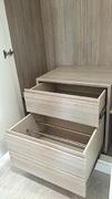 Organizador de armario, cajón y zapatero con guía de extracción total.