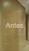 Frente de armario abatible en dos puertas en haya vaporizada, original