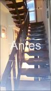 Barandilla y escalera originales antes de reformar.